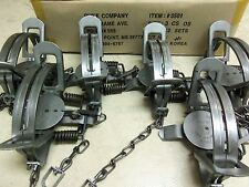 6 Duke # 3 OFFSET Coil Spring Traps  Beaver Fox Bobcat Coyote  Trapping 0501