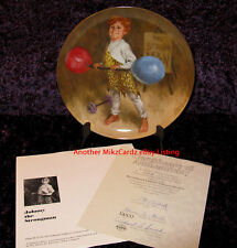 """Johnny The Strongman"" John McClelland Circus Kid Plate - Free Shipping With Coa"