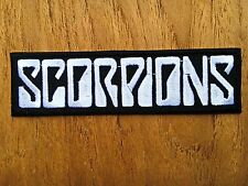 Scorpions Embroidered Sew Iron On Patch Logo Rock Band Music Heavy Metal Jacket