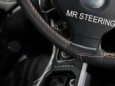 Convient Nissan Note MK1 04-12 Véritable Volant en cuir couverture BEIGE DOUBLE STITCH