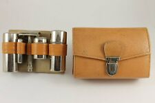 1950's Vintage Bulgarian METINO Traveling Shaving Set Leather Case