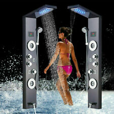 ELLO&ALLO Shower Panel Tower LED Rain&Waterfall Massager Body System Sprayer