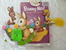 2 Vintage Beistle Easter Bunny Nests Art Tissue Centerpiece Package + 4 Others