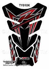 Yamaha YZF R1 / R6 Black Red Motorcycle Tank Pad Motografix 3D Gel Protector