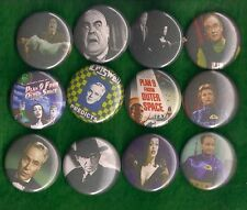 """Plan 9 From Outer Space 1"""" Pins Buttons Badges x 12 Sci-Fi Cult Film Ed Wood"""