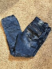 Mens Rock Revival Jeans Size 34 X 33 Ece Alt Straight  Dark Wash