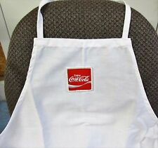 Vintage New Old Stock Coca-Cola Apron White Enjoy Coke