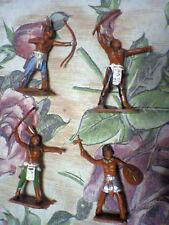 LOTTO 4 SOLDATINI WESTERN INDIANI PROBABILI ANNI '60 OTTIMI, ALTRI NARDI ROVELLO