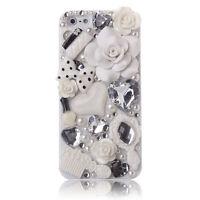 Luxury 3D New Crystal Design Rhinestone Gold Pink Diamond Bling Hard Cover Case