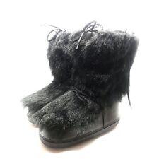 "MODES ""Power"" Black Faux-Fur Yeti Apres Ski Winter Boots - Size EU 40 US 7 - EUC"
