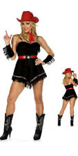 BE WICKED BLUEGRASS COWGIRL ADULT HALLOWEEN COSTUME WOMEN SIZE MEDIUM/LARGE