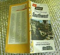 1960S ? to & Through the Great Southwest Brochure Greyhound Bus Trips & Tours