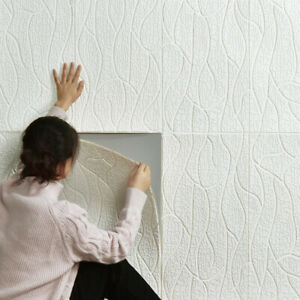 3D Large Tile Brick Wall Sticker Self-adhesive Waterproof Foam Panel Hot