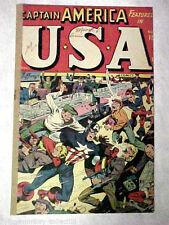 USA Comics #15 Captain America 1945 Timely Comics A Pop Hollinger Rebuilt Comic