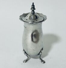 Antique Solid Sterling Silver Pepper Pot Shaker 1912