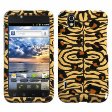 For LG Marquee HARD Protector Case Snap on Phone Cover Wild Leopard Skin