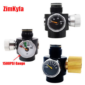 Paintball Air Compressed Tank Co2 Regulator Valve w/Outlet Refill Adapter G1/2