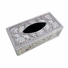 Silver Royal Paper Tissue Box Holder Office Car Home Decor NEW