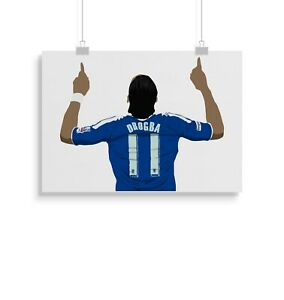 Didier Drogba, Chelsea, Print, Poster, Wall Art, Gifts, Home Decor