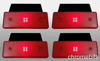 4 pcs 12 VOLT 12V SIDE LED RED REFLECTOR INDICATOR REAR MARKER LIGHT TRAILER VAN