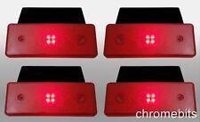 4 Stück 12 Volt 12V Seite LED roter Reflektor Blinker Heck Markierungsleuchte