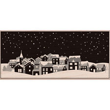 """""""Hero Arts Mounted Rubber Stamp 5""""""""X2.25""""""""-Winter Town"""""""