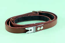 Rolleiflex F and E Camera Strap with original Alligator Clips, replaced leather