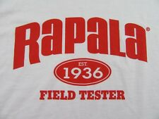 RAPALA Est. 1936 FIELD TESTER Topwater Plugs Lures Fishing T Shirt Size XL