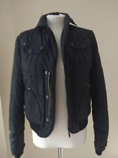 Diesel Black Puffa Jacket Size 10