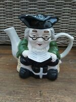 Vintage Ornamental TEAPOT Toby Jug Style Novelty Tea pot