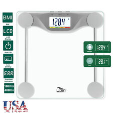 400lb/180KG Digital LCD Body Bathroom Scale Tempered Health BMI Weight Backlight