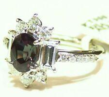 Vintage 3.13CT Platinum Natural Diamond Alexandrite Engagement Ring Certified