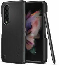 Galaxy Z Fold 3 Case   Spigen ®[ Thin Fit P ] Shockproof Slim S Pen Holder Cover