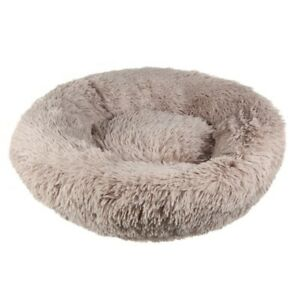 Caramel Donut Dog Bed Cat Pet Calming Comfy Warm Nest