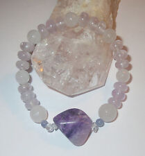 BEAUTIFUL SUGILITE HERKIMER DIAMOND TANZANITE VERA CRUZ AMEHTYST BRACELET