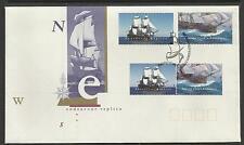 AUSTRALIA 1995 CAPTAIN COOK SHIP ENDEAVOUR and REPLICA 4v FDC