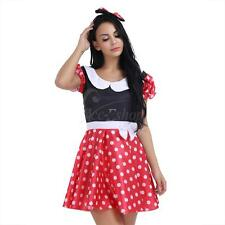 XL Sexy Women's Minnie Mouse Costume Polka Dot Cartoon Halloween Fancy Dress Up