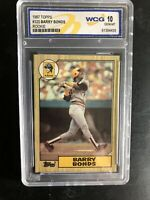 BARRY BONDS 1987 TOPPS #320 RC ROOKIE CARD PITTSBURGH PIRATES WCG 10 GEM MINT