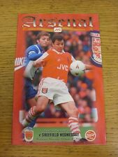 29/11/1995 Arsenal v Sheffield Wednesday [Football League Cup] (Team Changes). (