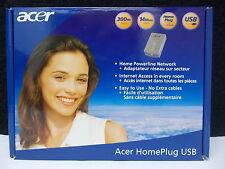 ACER, Home Powerline Network, 300m, 14 Mbit/s, Home Plug, USB, #K-34-3