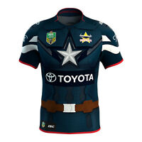 NQ Cowboys 2017 NRL Captain America Marvel Jersey Adults, Ladies Sizes ONLY!