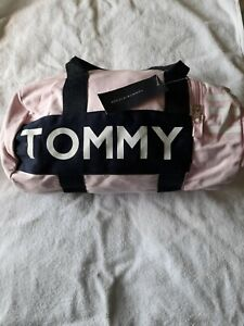 Brand New Women's Tommy Hilfiger Mini Duffle Handbag In Pink/Navy