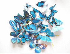 12Pcs 3D Butterfly Wall Decals Removable Sticker Kid Art Nursery Xmas decoration