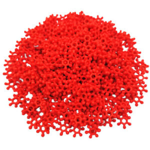 500PCS 8mm Solid color Snowflake Beads Kids Loose Spacer Beads DIY Gift Gifts