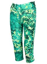 adidas Ss16 Womens Supernova Print 3/4 Run Tights Size Small Aj4067 Green Multi