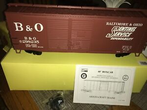 Aristocraft 45109 Steel Double Door Box Car, B&O, G-Scale, *NEW*