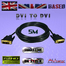 DVI-D (19Pin) to DVI-D (19Pin) CABLE/LEAD / SINGLE LINK/PC TV Monitor (5 METRES)