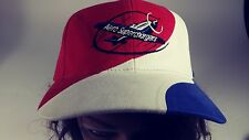 RARE!! Aero Superchargers Vintage Airplane Hat Red White & Blue