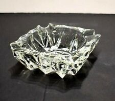 Vintage Crystal Glass Cigarette Ashtray Marked - Made In France