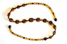"""Beautiful Faceted Baltic Butterscotch Amber Necklace 13.67 grams 18"""" Long"""